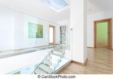 gang treppengel nder treppe modern glas t ren gang treppengel nder treppe dachgeschoss. Black Bedroom Furniture Sets. Home Design Ideas