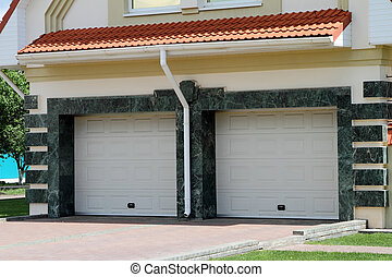 Modern Garage door for 2 cars.