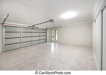 Modern Garage Interior - The inside of a modern 2 bay home...