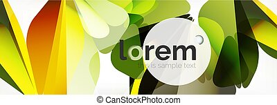 Modern geometric background. Poster template with polygonal elements