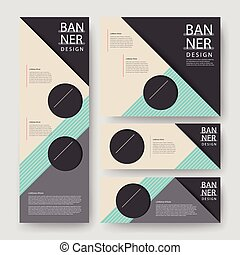 modern geometric banner template design