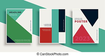 modern geometric cover design template set