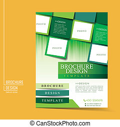 modern geometric style flyer template for business advertising in green