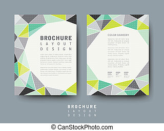 modern geometric style flyer template