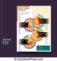 modern geometric style poster brochure template design