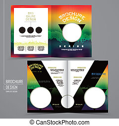modern geometric style two-fold template brochure