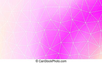 Modern geometrical abstract background with polygonal pattern with triangles elements Template for wallpaper, interior design, decoration, scrapbooking page. Vector illustration. Gradient color.