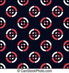Modern geometrical shape circle with pink, white seamless pattern