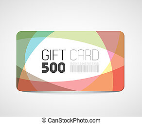 Modern gift card template - abstract overlay effects