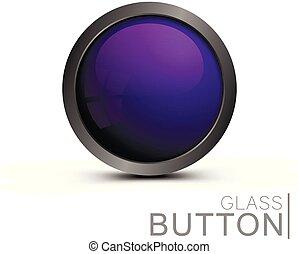Modern glass button.