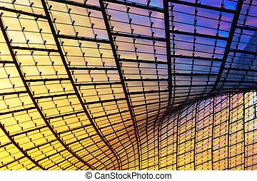 modern glass facade, abstract composition