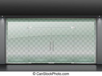 Modern glass facade