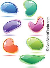Modern glass speech bubbles. - Ten modern glass speech...