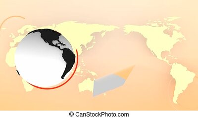 Modern globe background refract effect