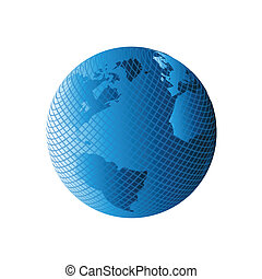 Modern globe earth vector
