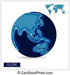 Modern Globe, vector illustration.