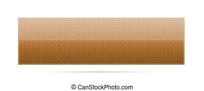 blank brown button