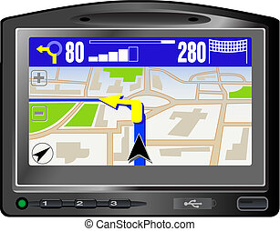 Modern GPS. This image is a vector illustration and can be...