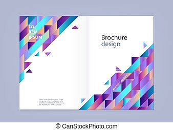 Modern gradient horizontal template for business or promotional poster or presentation.