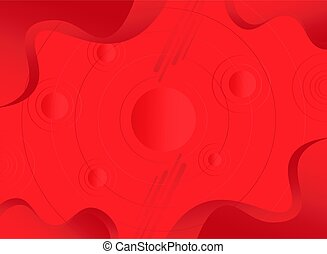 Modern gradient red fluid background with geometric shapes