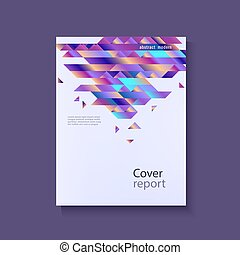 Modern gradient template for business or promotional poster or presentation.