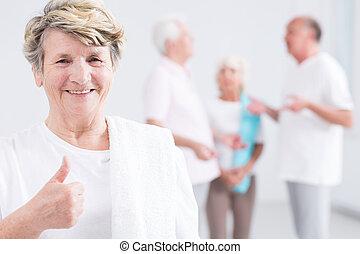 Modern grandma who keeps her shape