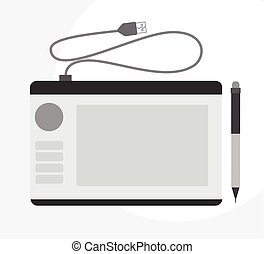 Modern Graphic Tablet Vector