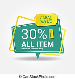 Modern great sale banner design for promotion ads vector eps 10
