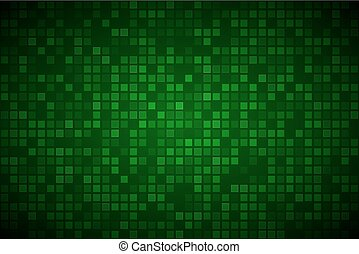 Modern green abstract vector background with transparent squares, simple illustration with different transparency of squares