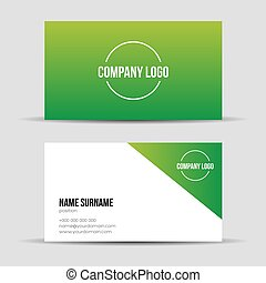 Modern green light business card template vector eps 10 vector modern green business card template wajeb Gallery