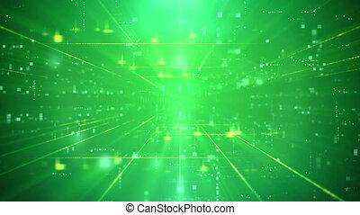 Modern Green Business Technology Background