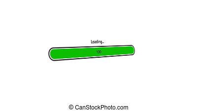modern green loading bar on white background
