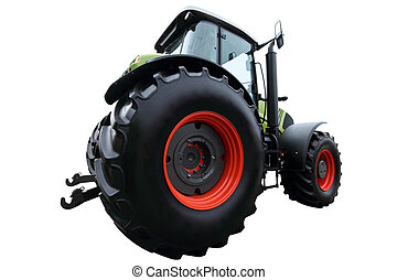 Modern green tractor