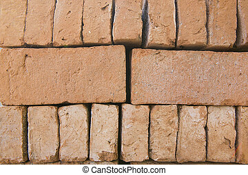 Modern grey brick wall for background or texture