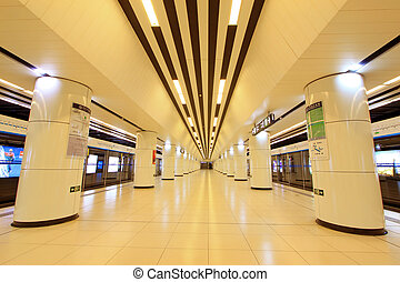 modern hall in Beijing subway station