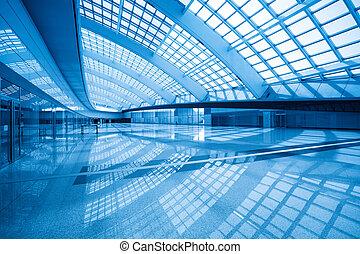 modern hall inside in the beijing airfield - modern hall...