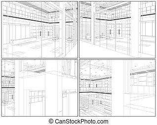 Modern Hall Vector