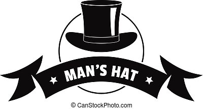 Modern hat logo, simple black style - Modern hat logo....