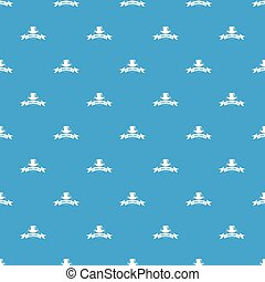 Modern hat pattern vector seamless blue repeat for any use