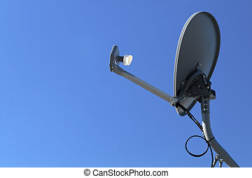 Modern HD TV Satellite Dish - Modern HD TV satellite dish...