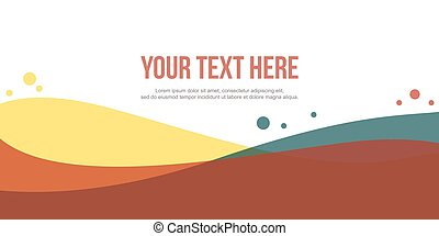Modern header website abstract background