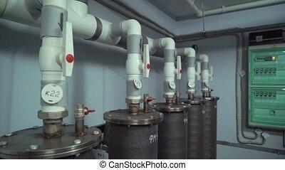 Modern heater system in big building