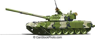 modern heavy tank - Vector color illustration of tank....