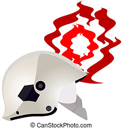 Modern helmet of the fireman