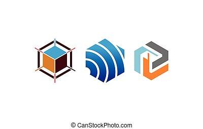 Modern Hexagon Template Set