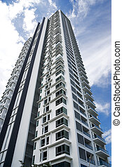 Modern Hi-Rise Apartments - Image of brand new modern...