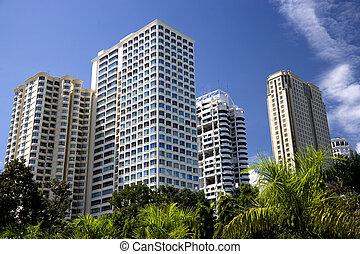 Modern Hi-Rise Buildings - Image of modern hi-rise...