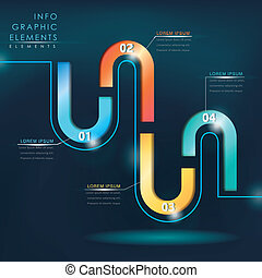 modern hi tech style colorful infographic elements
