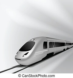 Modern high speed train 1