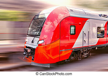 Modern high-speed train